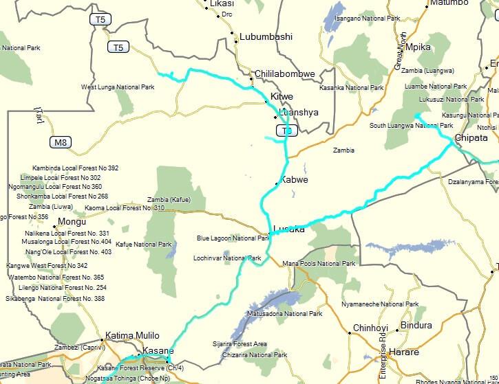 Route Zambia