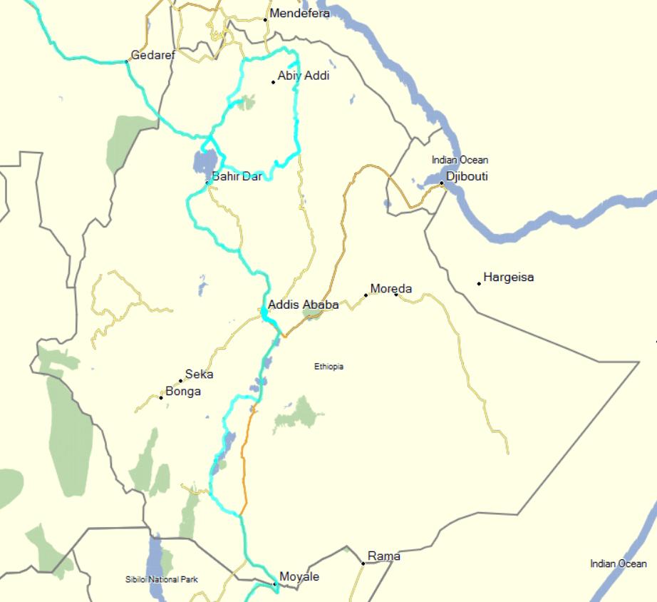 tracks ethiopia