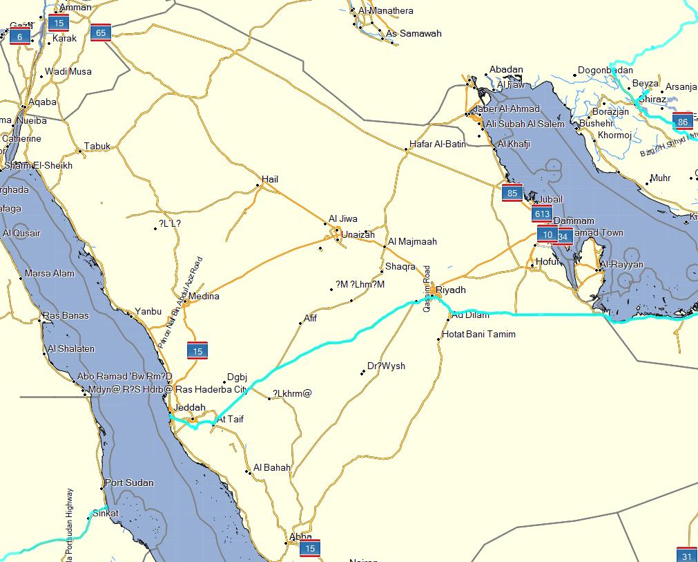 Tracks Saudi Arabia