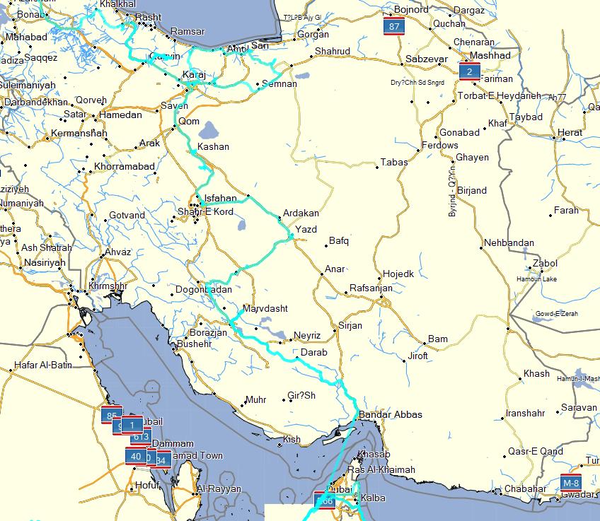 tracks Iran