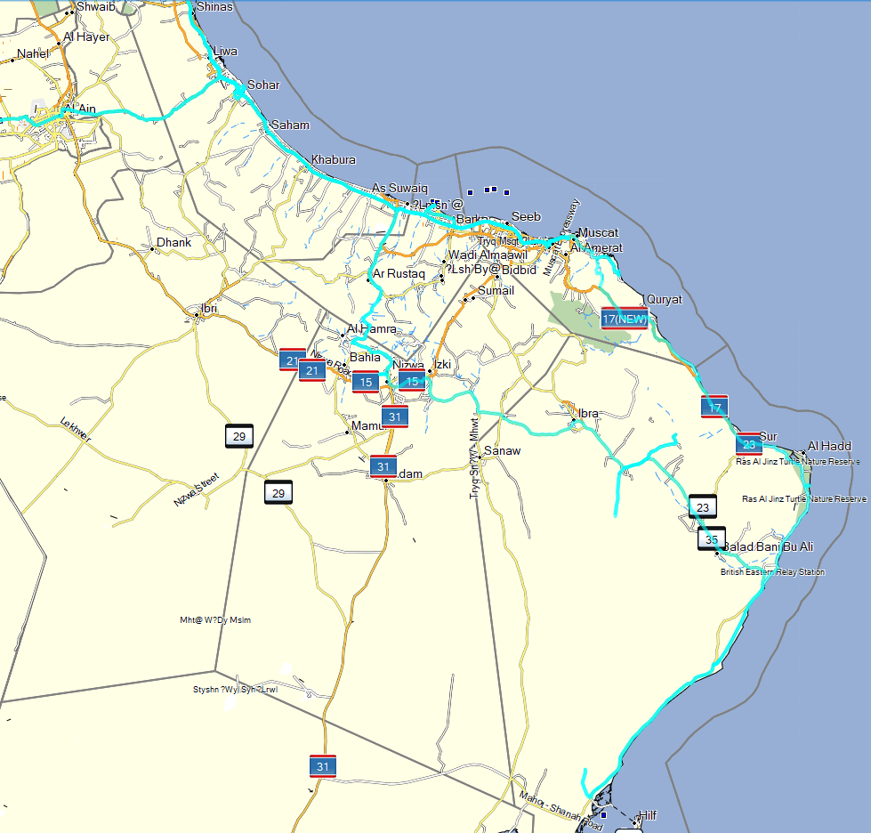 tracks Oman